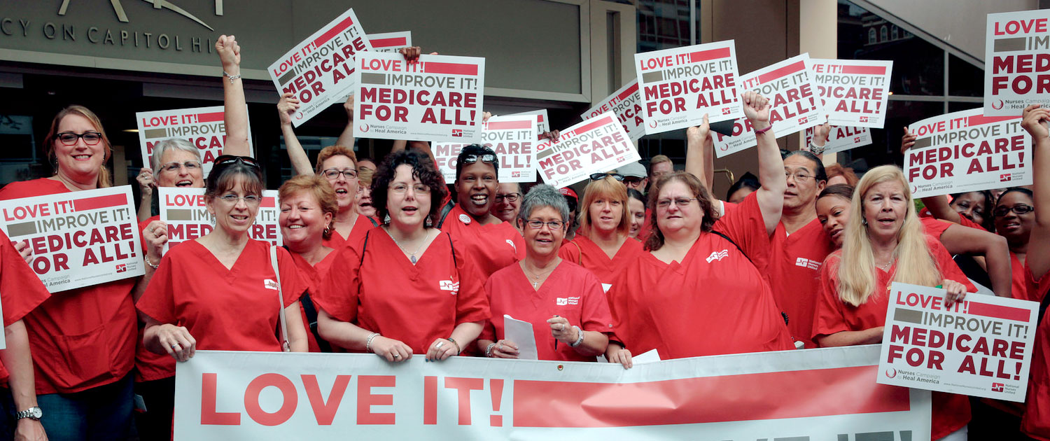 National Nurses United Rally with Sen. Bernie Sanders on the 50th Anniversary of Medicare
