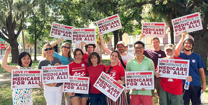 Medicare For All canvass, Tampa, FL
