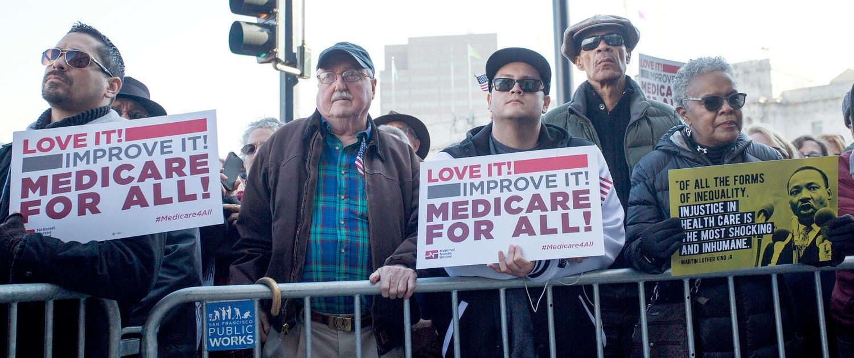 Healthcare justice rally in San Francisco, CA