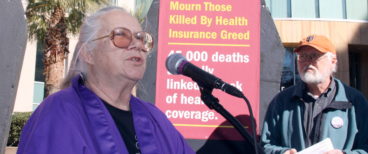 Mourn those killed by health insurance greed.